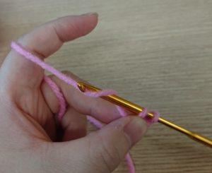 くさり編みの細編みのやり方