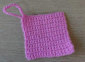 細編みのコースターの編み方